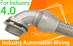 On the road to Industry 4.0 in CNC technology with Delikon Cable Protection Heavy Series Flexible Conduit systems