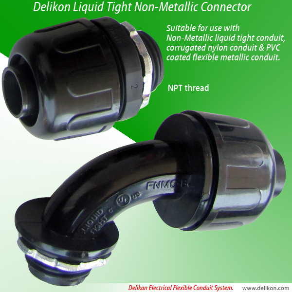 Delikon Liquid Tight Non-Metallic Connector (NPT Threads)